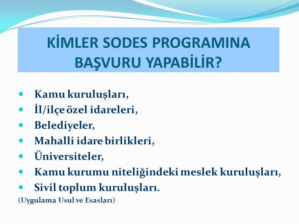 KİMLER SODES PROGRAMINA BAŞVURU YAPABİLİR