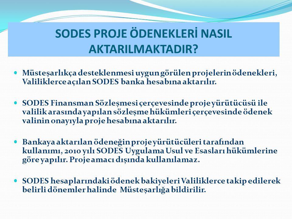 SODES PROJE ÖDENEKLERİ NASIL AKTARILMAKTADIR