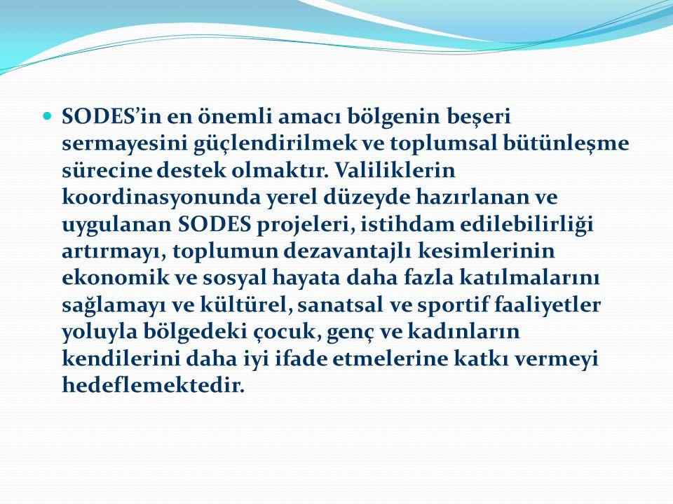 SODES'in en önemli amacı bölgenin beşeri sermayesini güçlendirilmek ve toplumsal bütünleşme sürecine destek olmaktır.