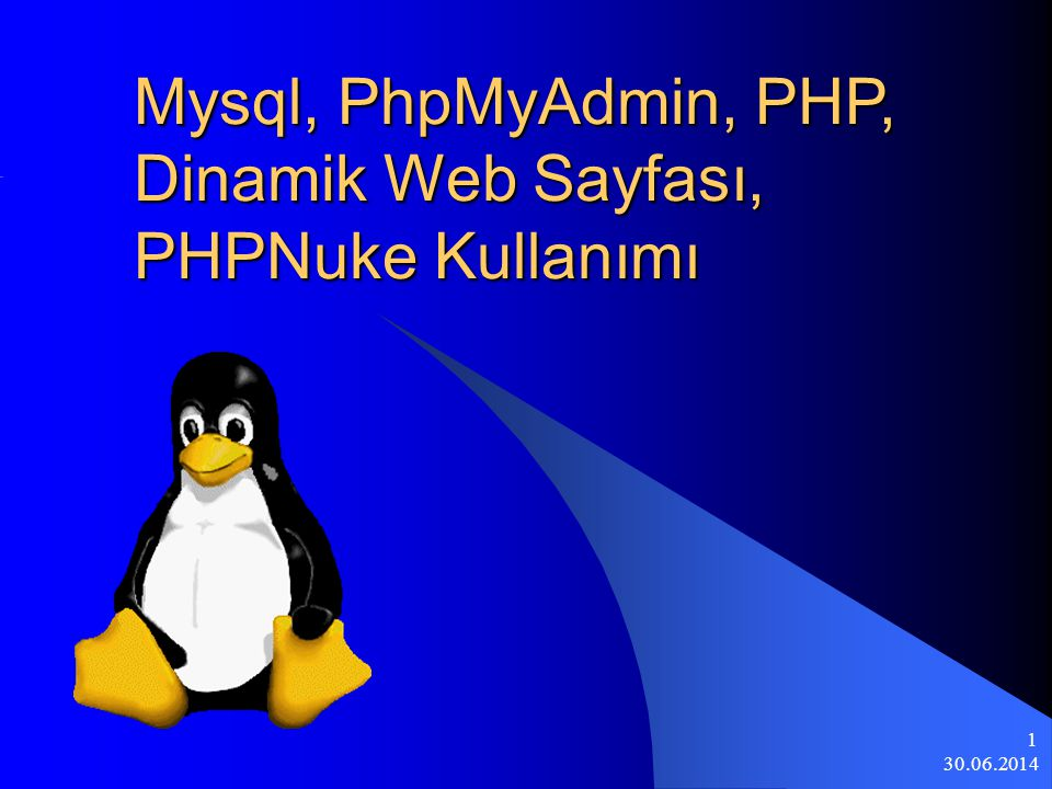 Mysql, PhpMyAdmin, PHP, Dinamik Web Sayfası, PHPNuke Kullanımı