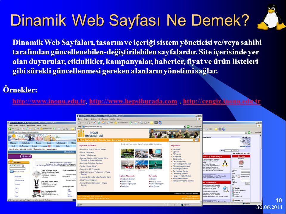 Dinamik Web Sayfası Ne Demek