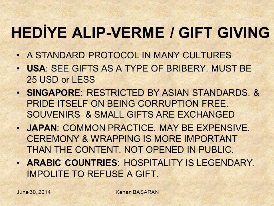 HEDİYE ALIP-VERME / GIFT GIVING