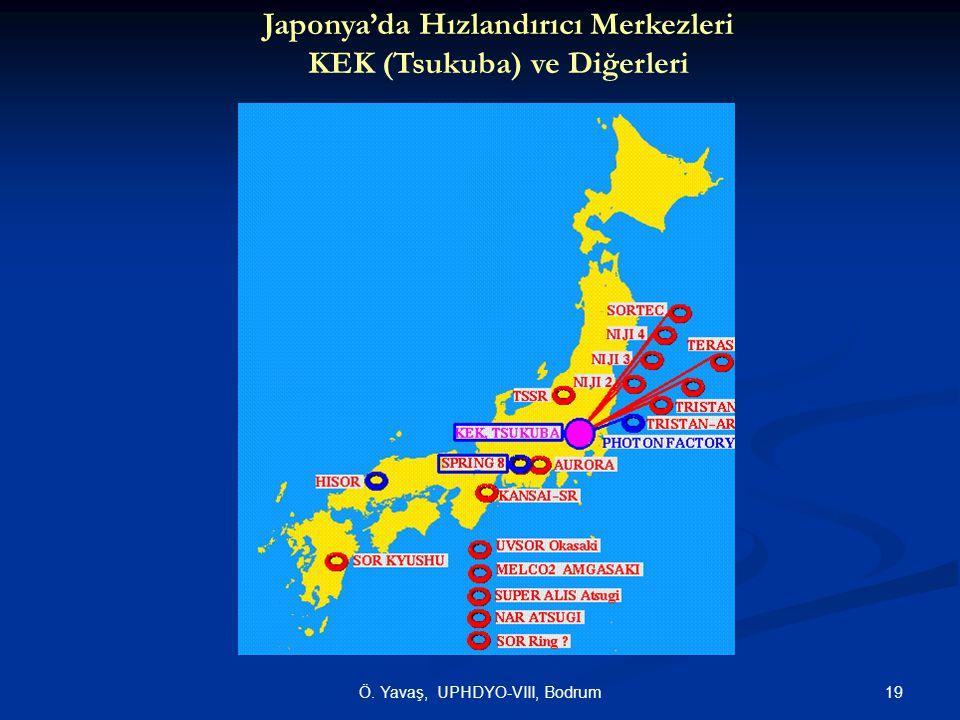 Japonya'da Hızlandırıcı Merkezleri KEK (Tsukuba) ve Diğerleri