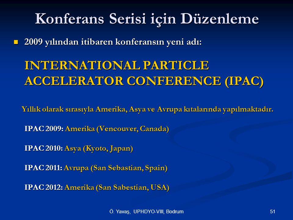 Konferans Serisi için Düzenleme
