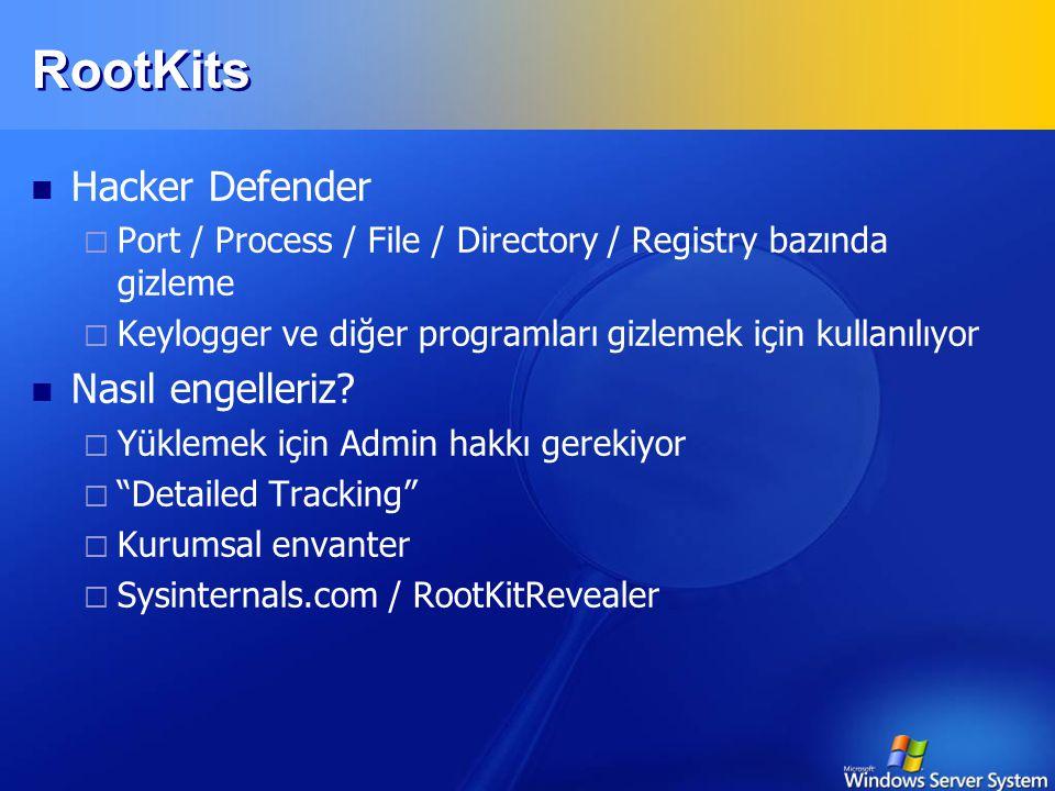 RootKits Hacker Defender Nasıl engelleriz