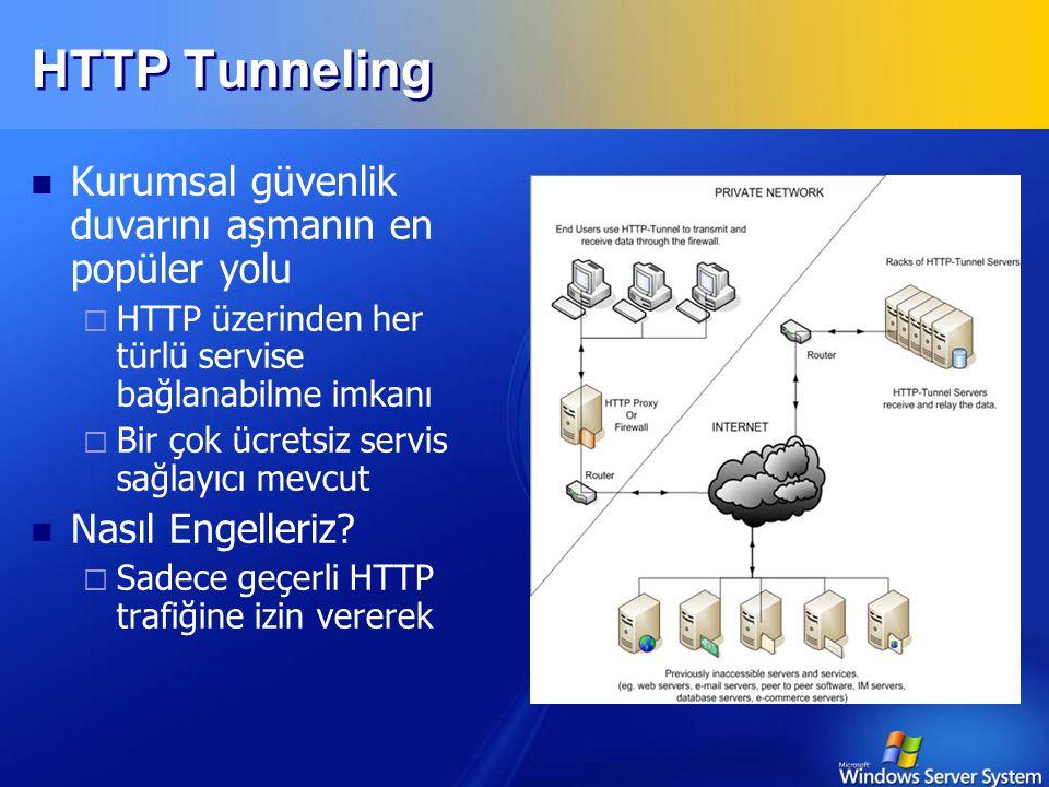 HTTP Tunneling Kurumsal güvenlik duvarını aşmanın en popüler yolu