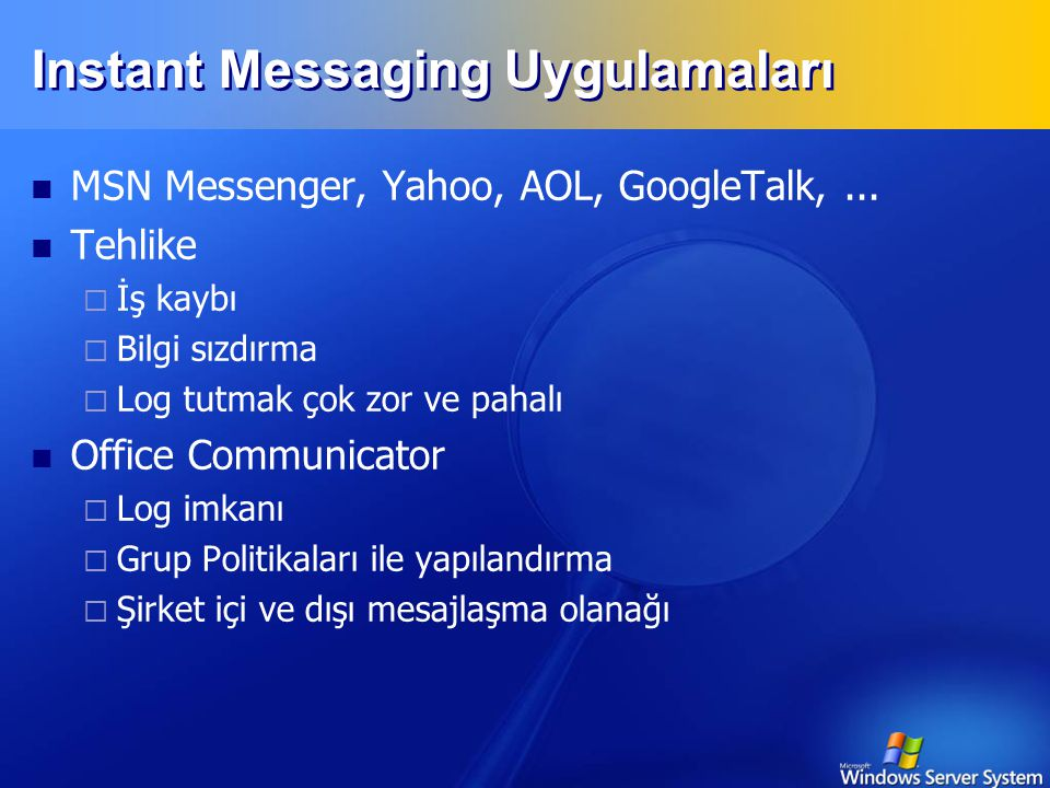 Instant Messaging Uygulamaları