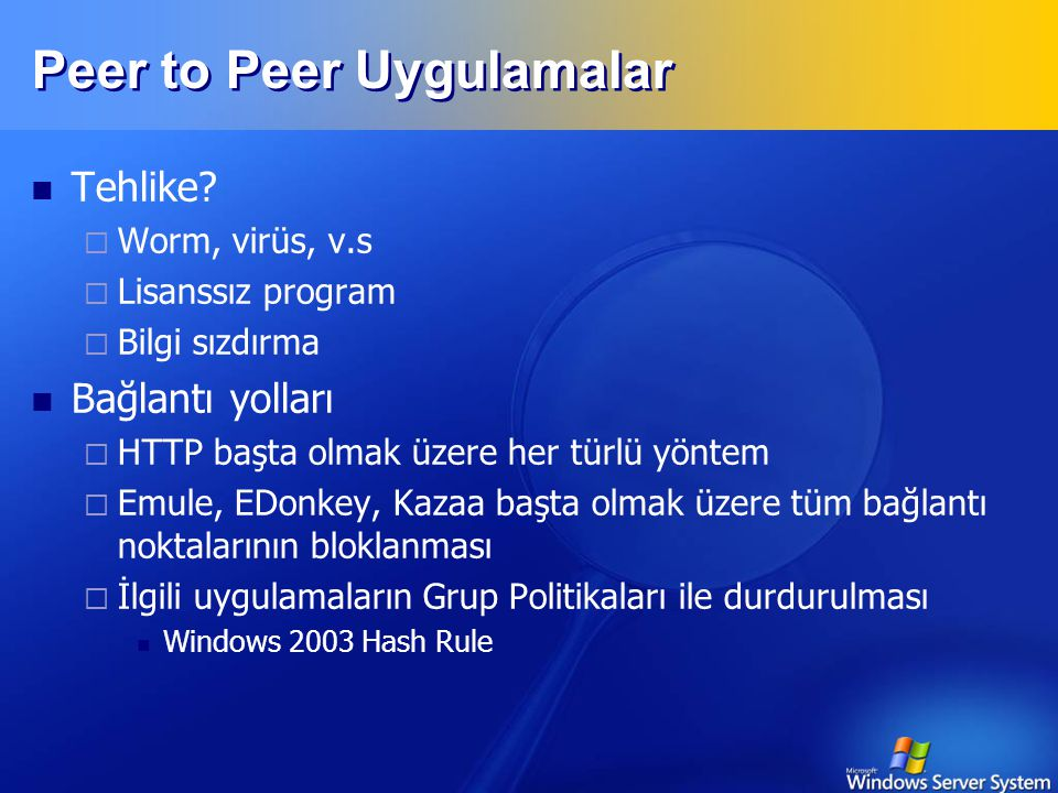Peer to Peer Uygulamalar