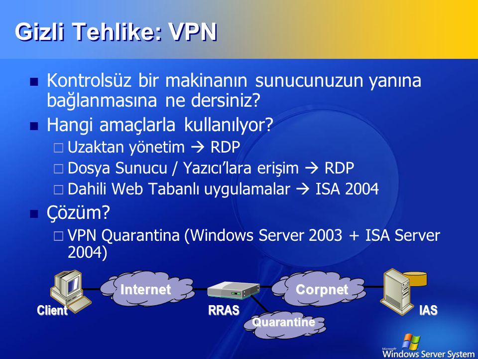Gizli Tehlike: VPN Kontrolsüz bir makinanın sunucunuzun yanına bağlanmasına ne dersiniz Hangi amaçlarla kullanılyor