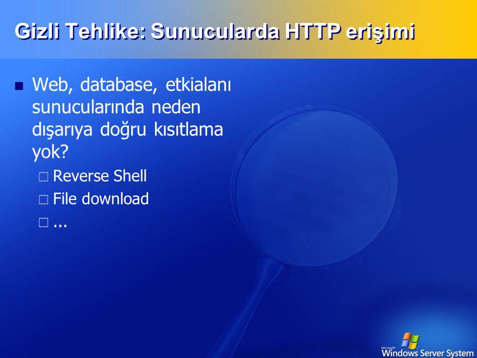 Gizli Tehlike: Sunucularda HTTP erişimi