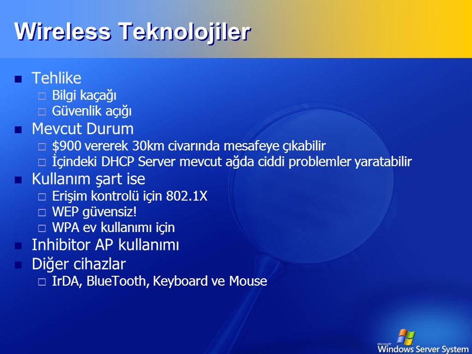Wireless Teknolojiler