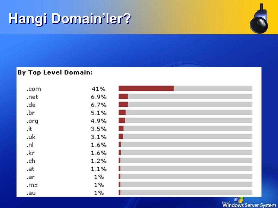 Hangi Domain'ler.