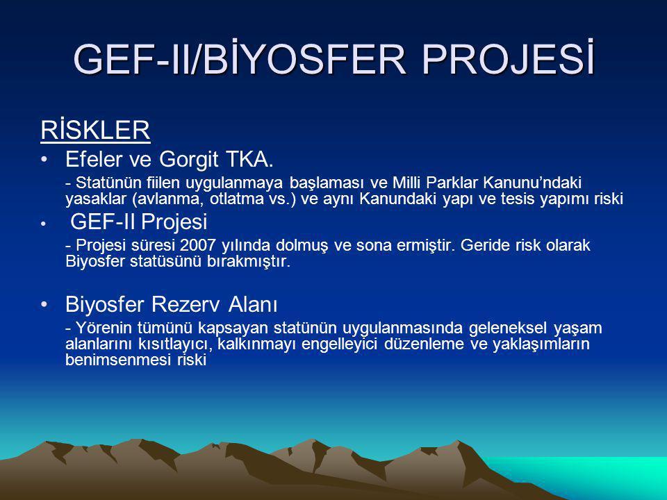 GEF-II/BİYOSFER PROJESİ