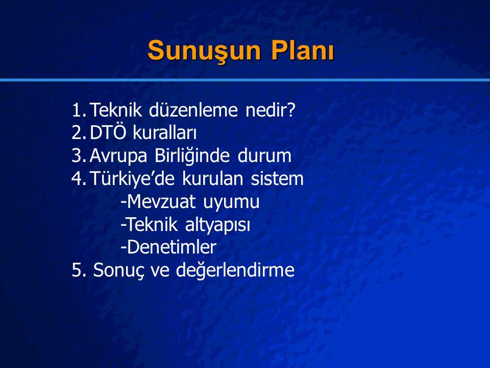Sunuşun Planı Teknik düzenleme nedir DTÖ kuralları