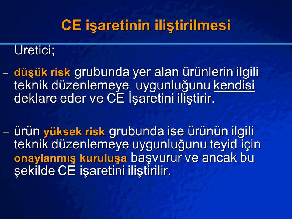 CE işaretinin iliştirilmesi