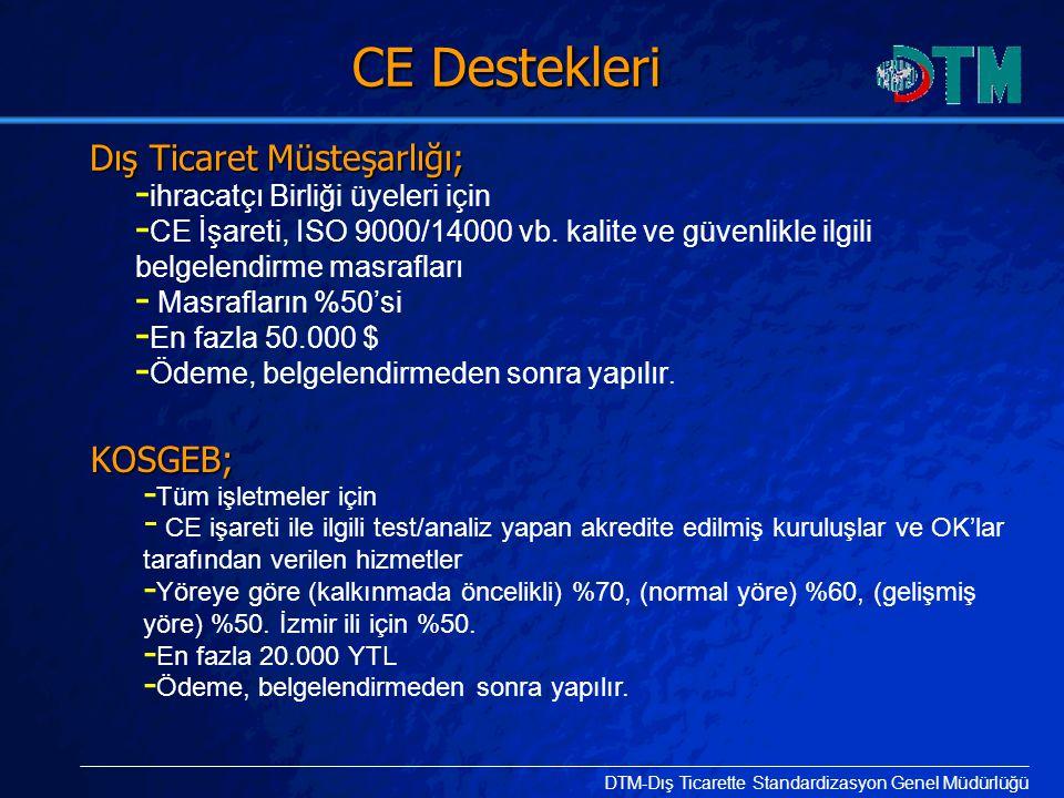 CE Destekleri KOSGEB; ihracatçı Birliği üyeleri için