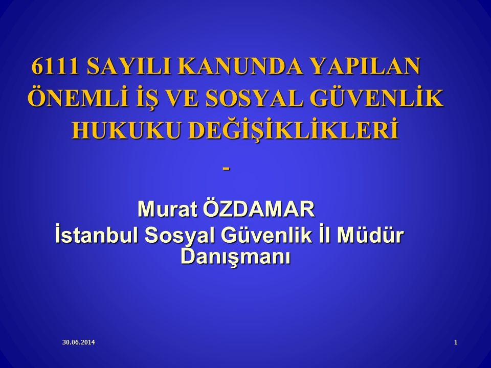 İstanbul Sosyal Güvenlik İl Müdür Danışmanı