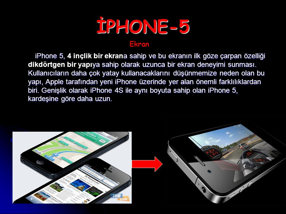 İPHONE-5 Ekran.