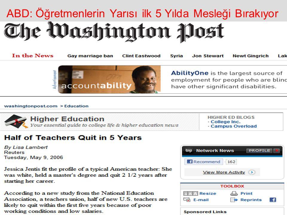 ABD: Öğretmenlerin Yarısı ilk 5 Yılda Mesleği Bırakıyor