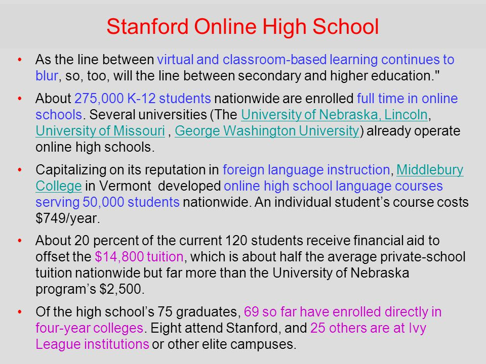 Stanford Online High School