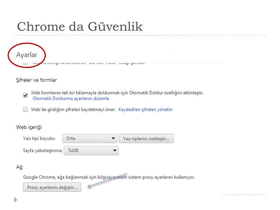 Chrome da Güvenlik