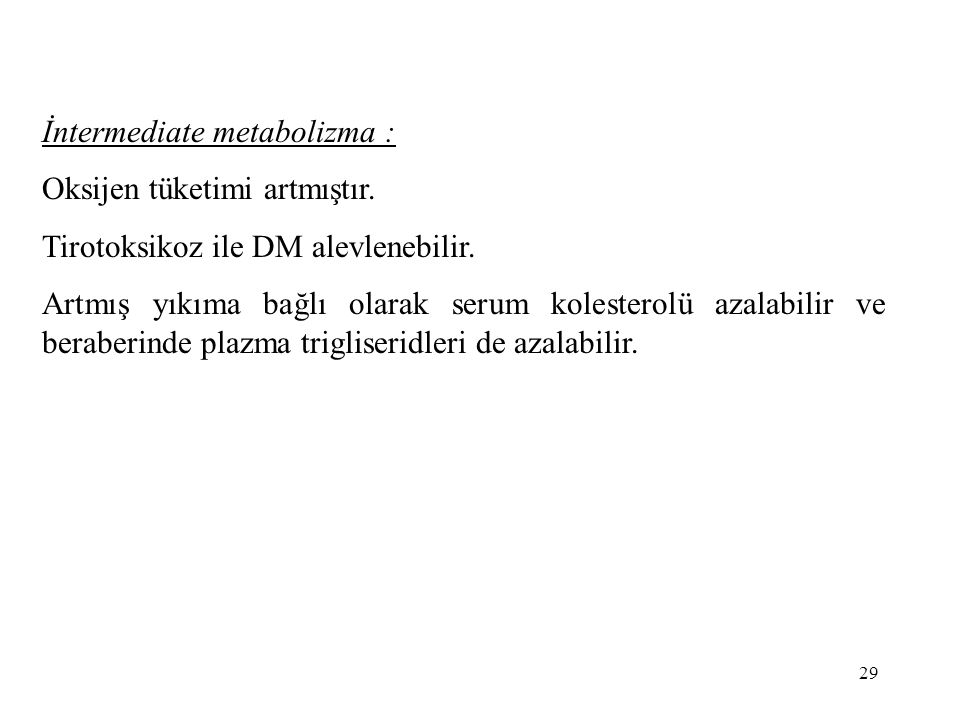 İntermediate metabolizma :