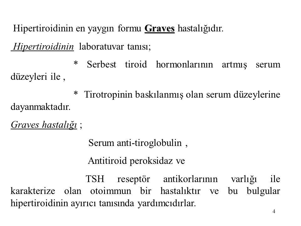 Hipertiroidinin en yaygın formu Graves hastalığıdır.