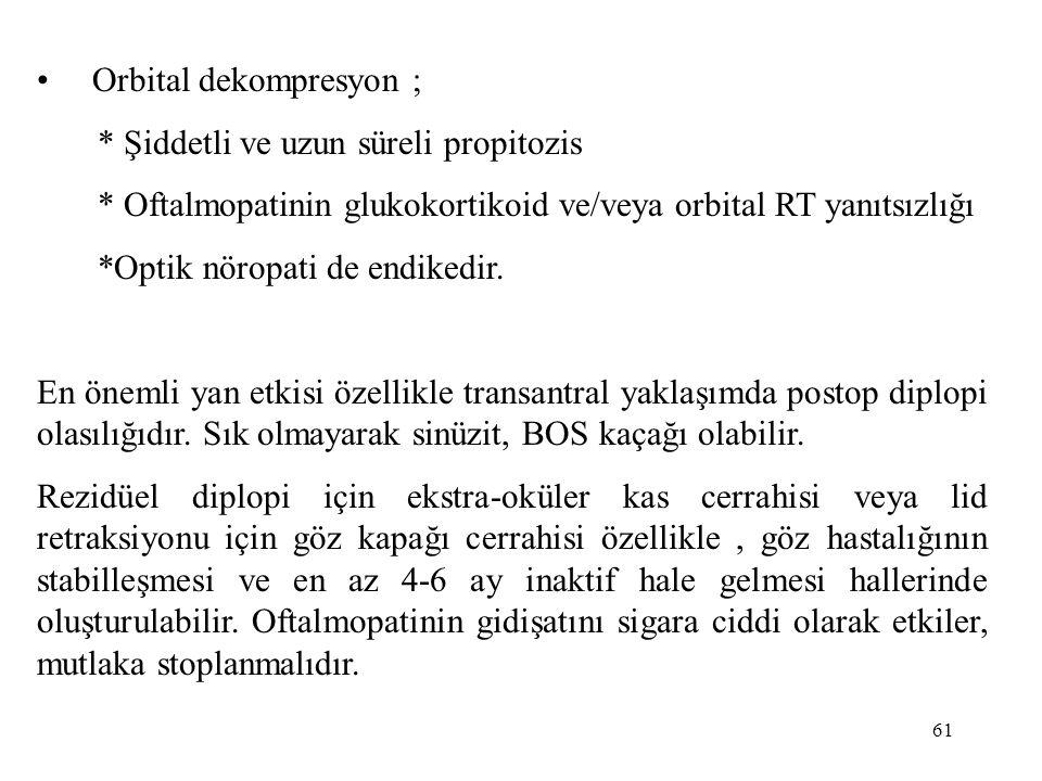 Orbital dekompresyon ;