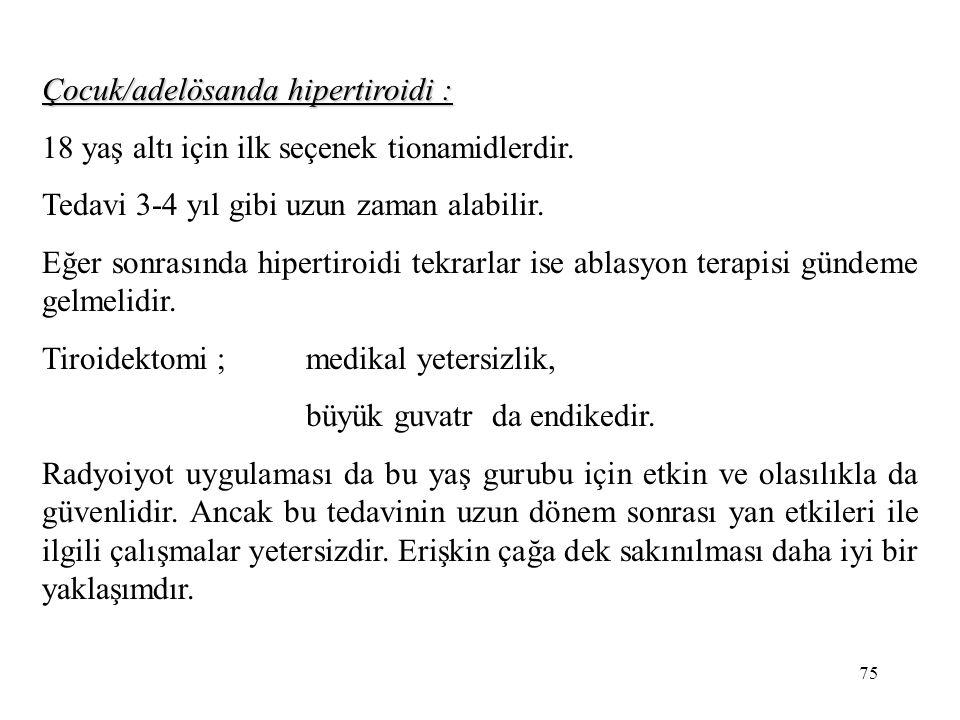 Çocuk/adelösanda hipertiroidi :