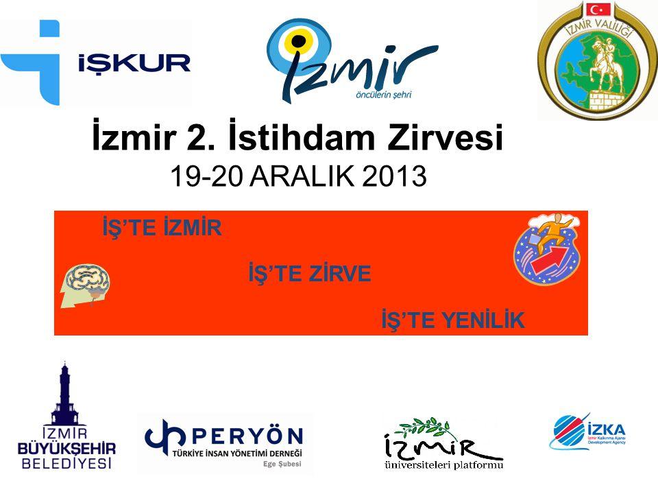 İzmir 2. İstihdam Zirvesi 19-20 ARALIK 2013