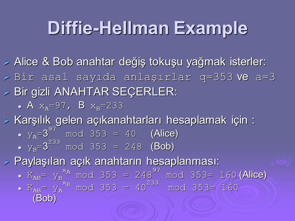 Diffie-Hellman Example