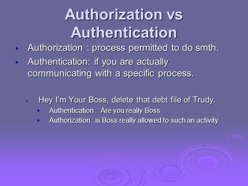 Authorization vs Authentication