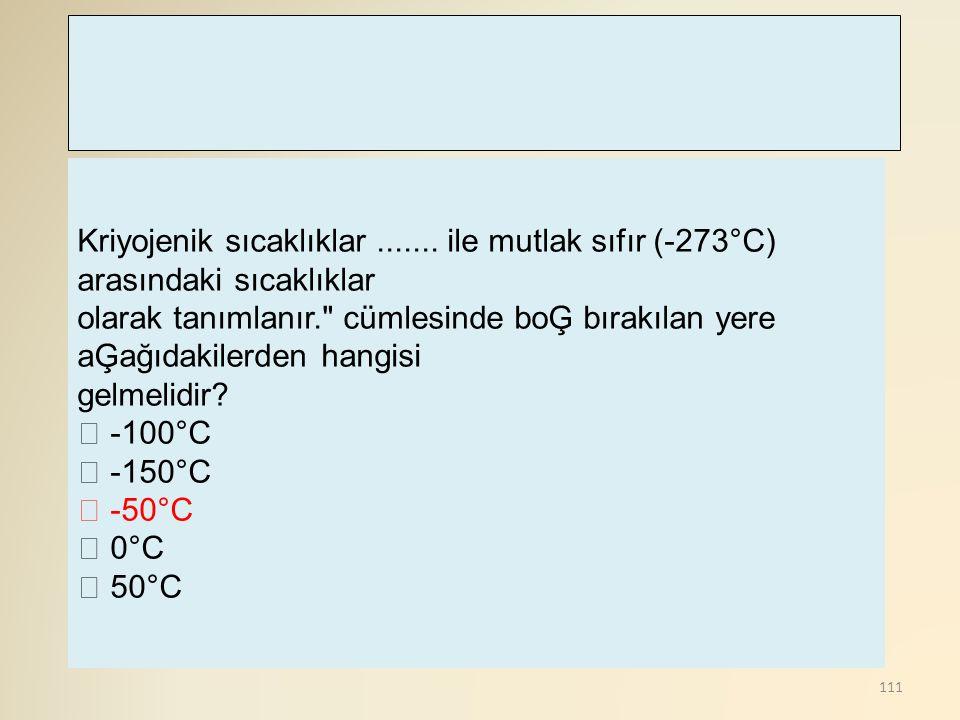 Kriyojenik sıcaklıklar
