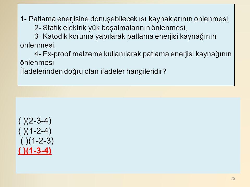 ( )(2-3-4) ( )(1-2-4) ( )(1-2-3) ( )(1-3-4)