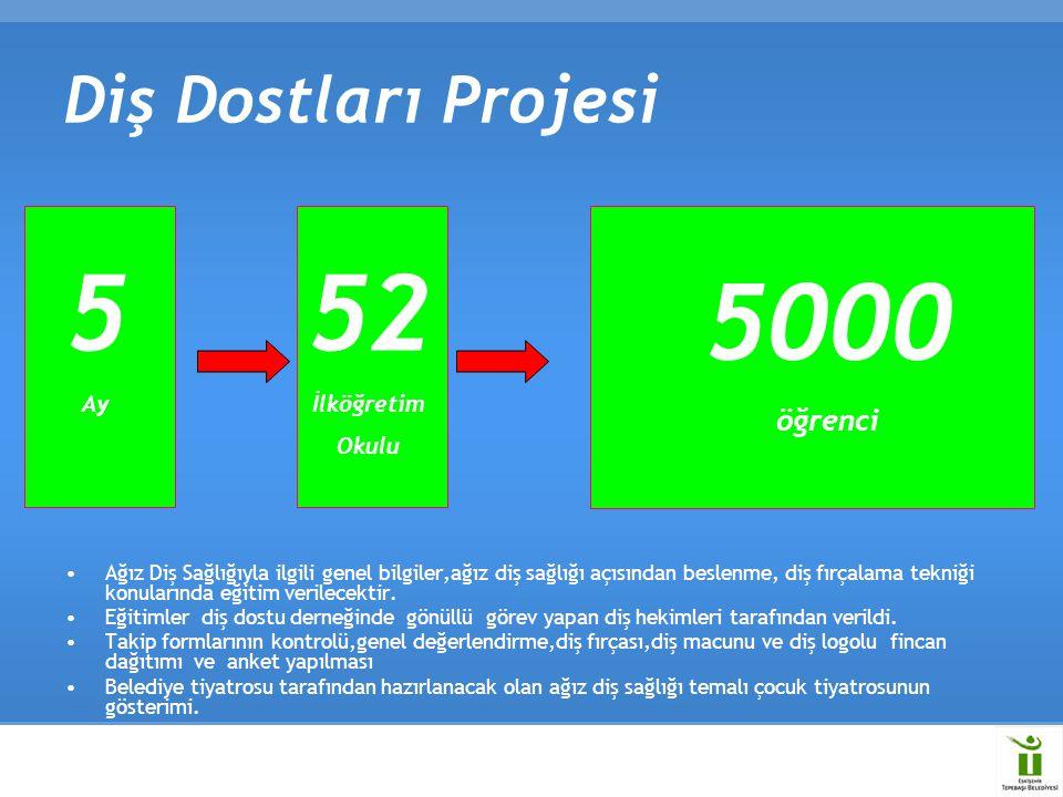 5 52 5000 Diş Dostları Projesi öğrenci Ay İlköğretim Okulu