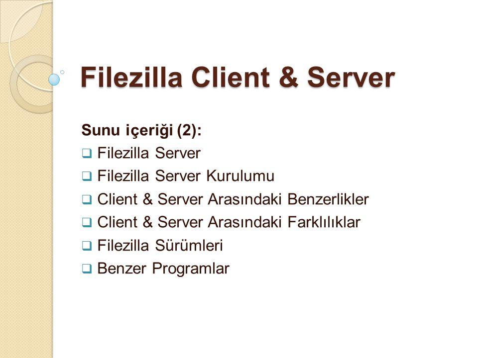 Filezilla Client & Server