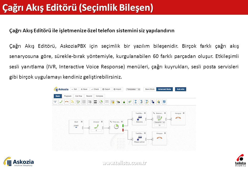 Çağrı Akış Editörü (Seçimlik Bileşen)