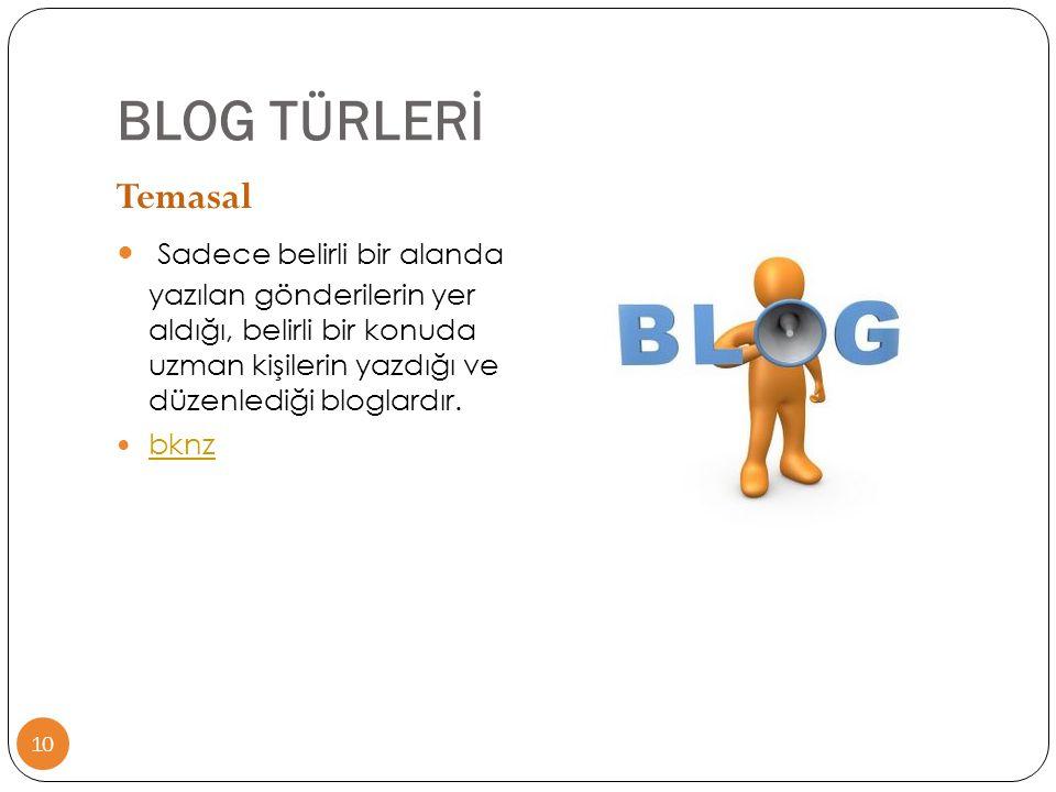 BLOG TÜRLERİ Temasal.