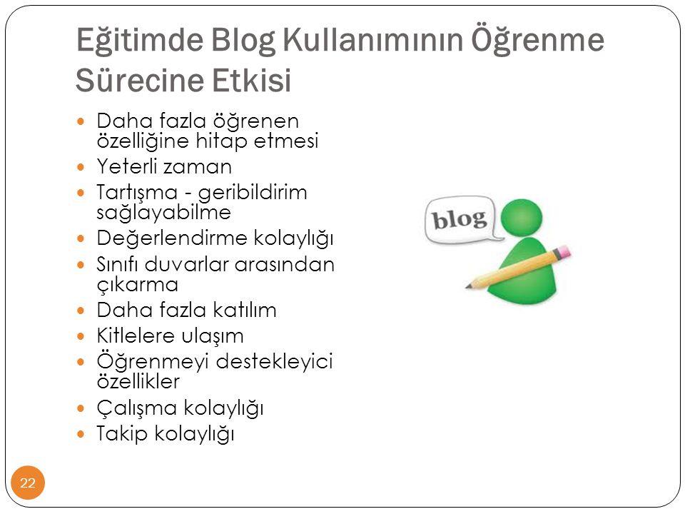 Eğitimde Blog Kullanımının Öğrenme Sürecine Etkisi