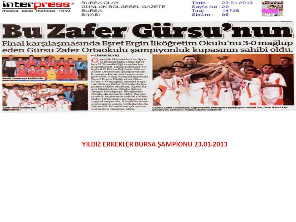 YILDIZ ERKEKLER BURSA ŞAMPİONU 23.01.2013