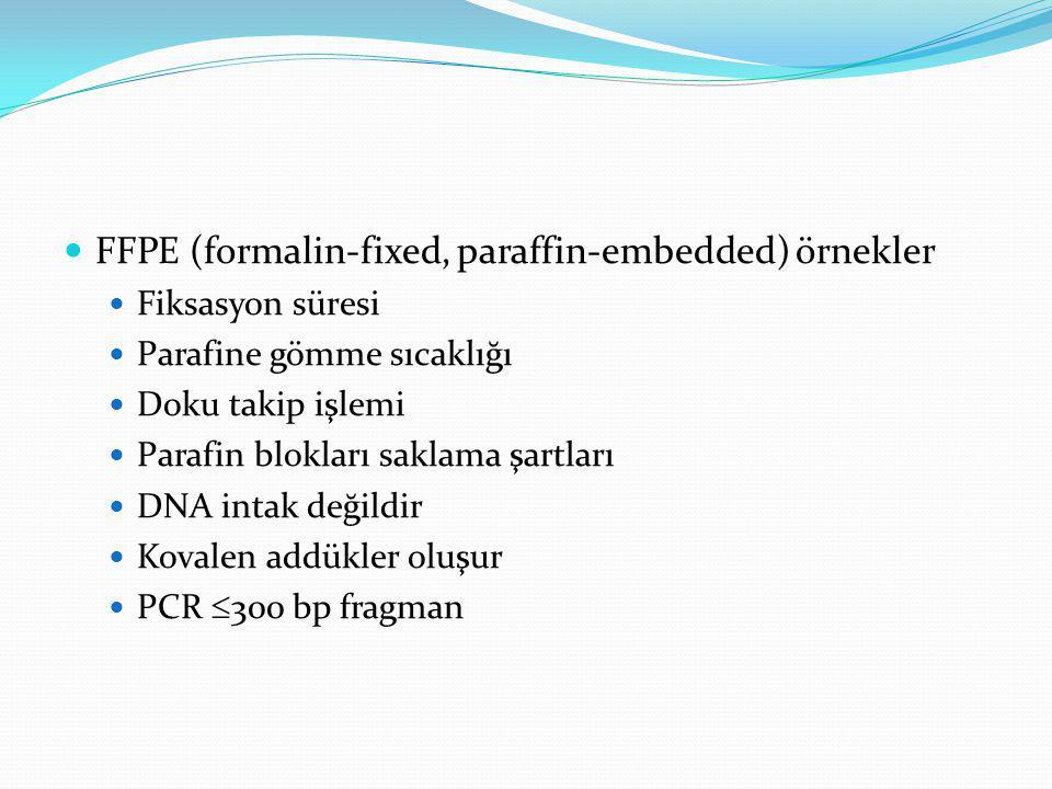 FFPE (formalin-fixed, paraffin-embedded) örnekler