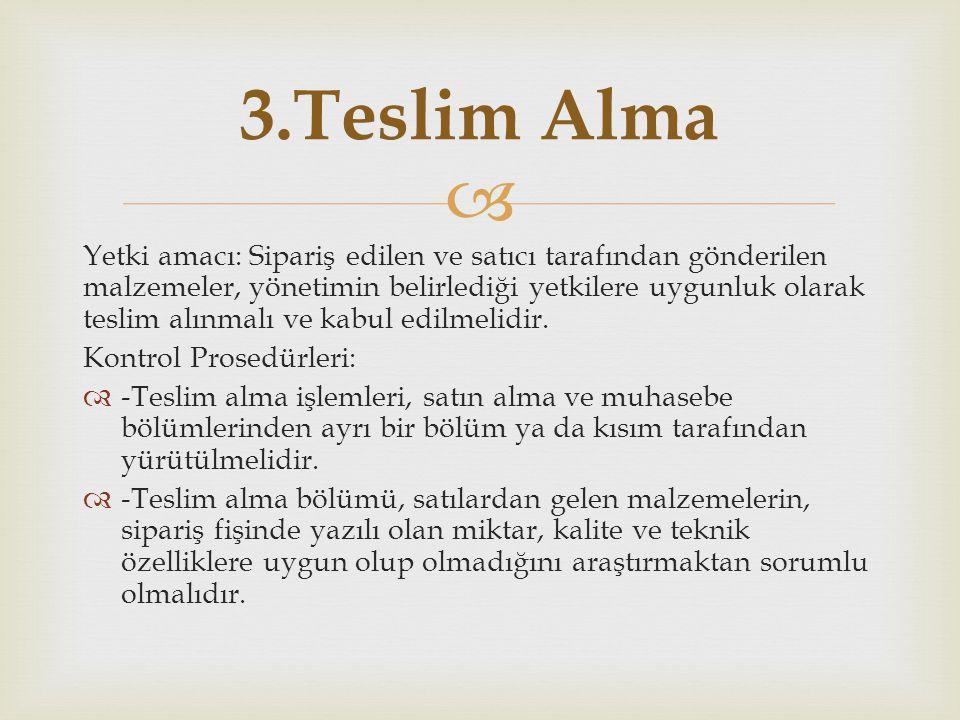 3.Teslim Alma