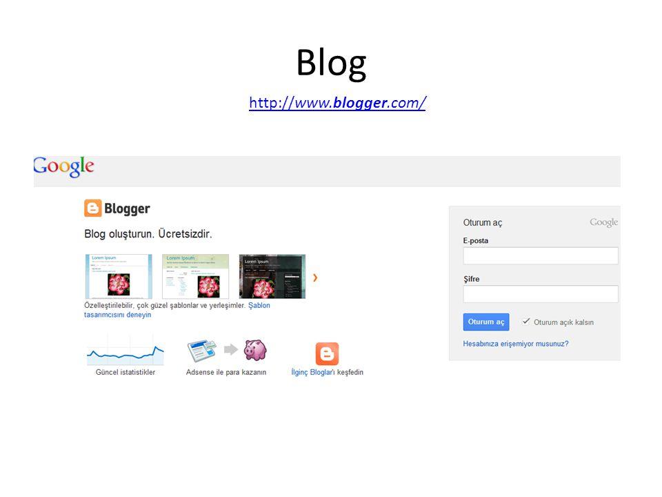 Blog http://www.blogger.com/