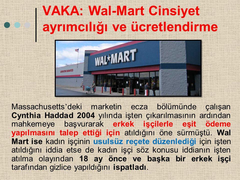VAKA: Wal-Mart Cinsiyet ayrımcılığı ve ücretlendirme