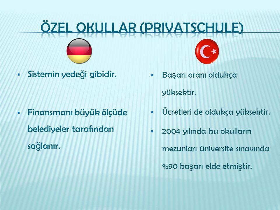 Özel OKULLAR (Privatschule)
