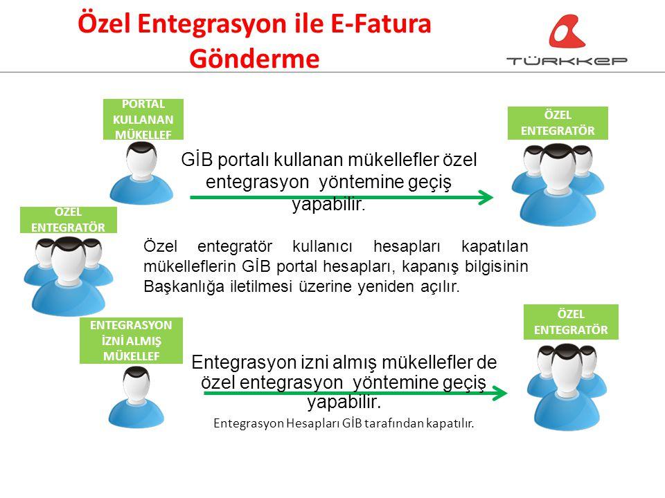 Özel Entegrasyon ile E-Fatura Gönderme