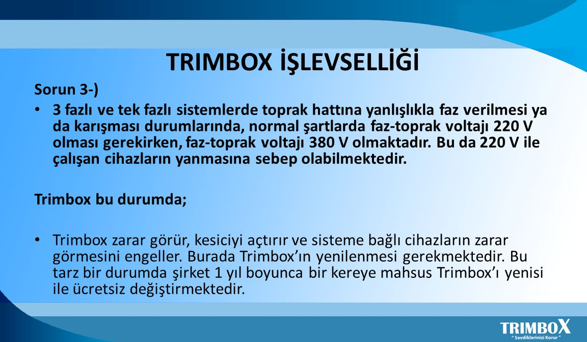 TRIMBOX İŞLEVSELLİĞİ Sorun 3-)