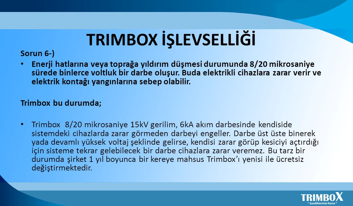 TRIMBOX İŞLEVSELLİĞİ Sorun 6-)