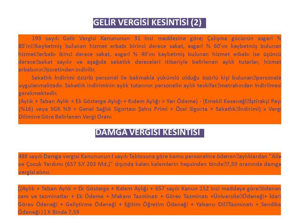 GELİR VERGİSİ KESİNTİSİ (2)