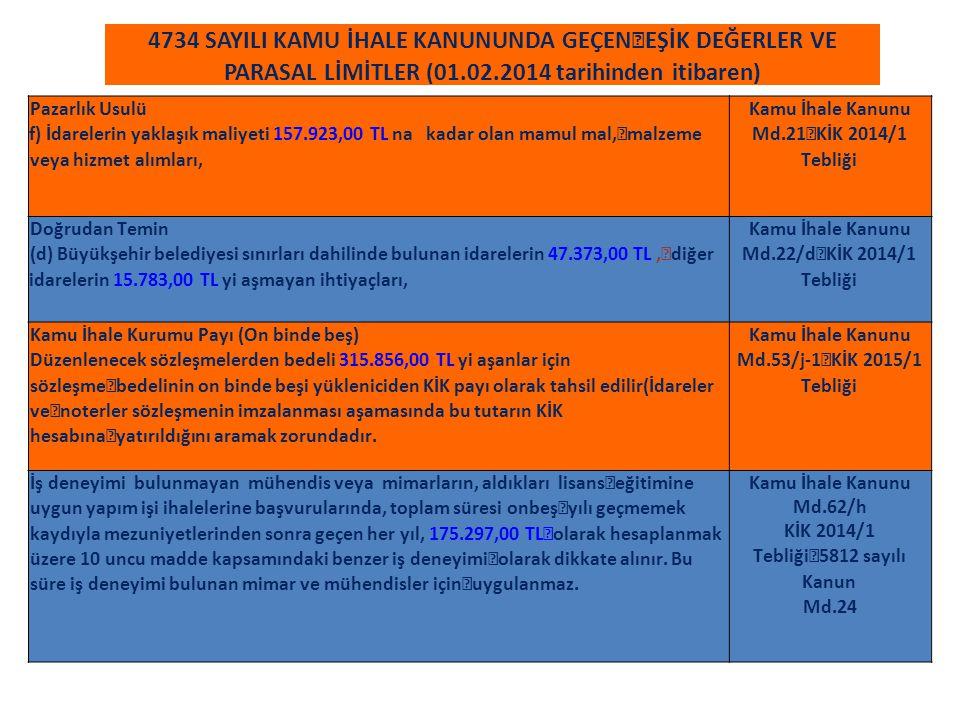 KİK 2014/1 Tebliği 5812 sayılı Kanun